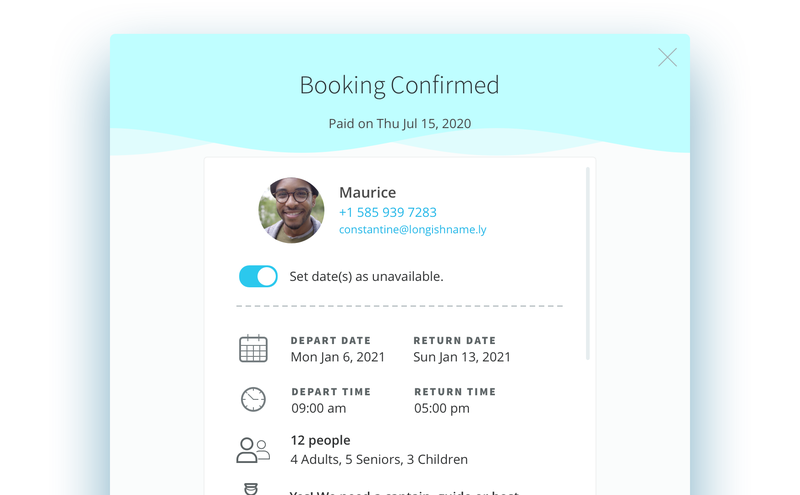 Switch dates with bookings from unavailable to available.