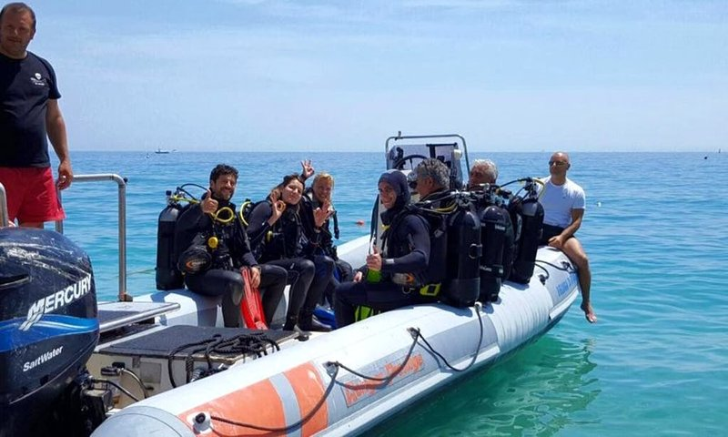 Scuba diving for the visually impaired, blind, and disabled in Liguria, Italy