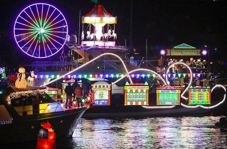 Christmas Holiday boat parade