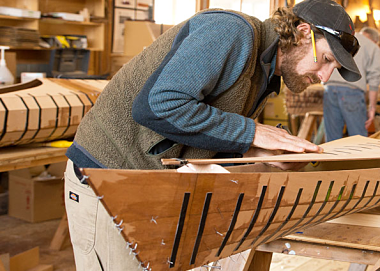 custom wooden kayak building kit from Pygmy