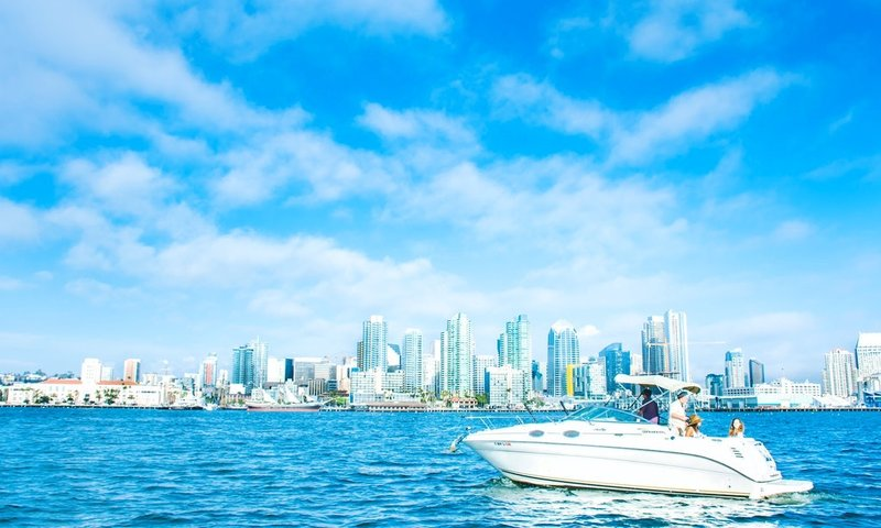 san diegio boat rental skyline